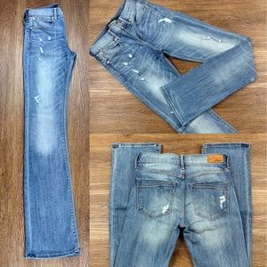 NWOT EXPRESS MID RISE BARELY BOOT STRETCH JEANS